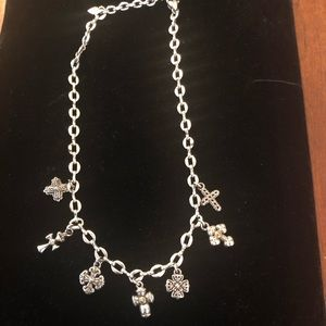 Brighton cross charm necklace like new